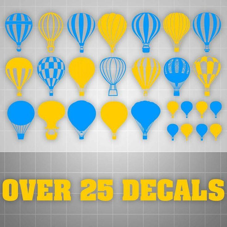 Modern Hot Air Balloon Wall Decor Illustration - Wall Art Design ...