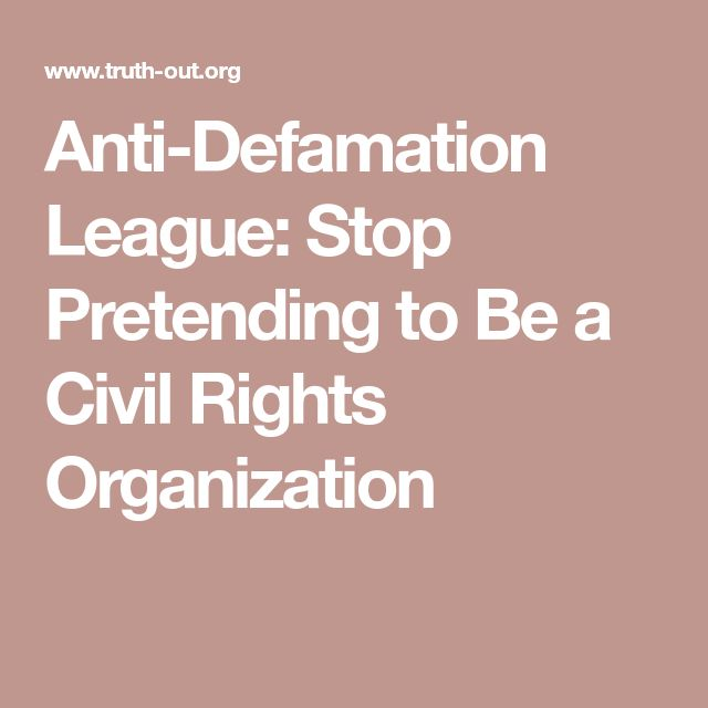 Anti-Defamation League: Stop Pretending to Be a Civil Rights Organization