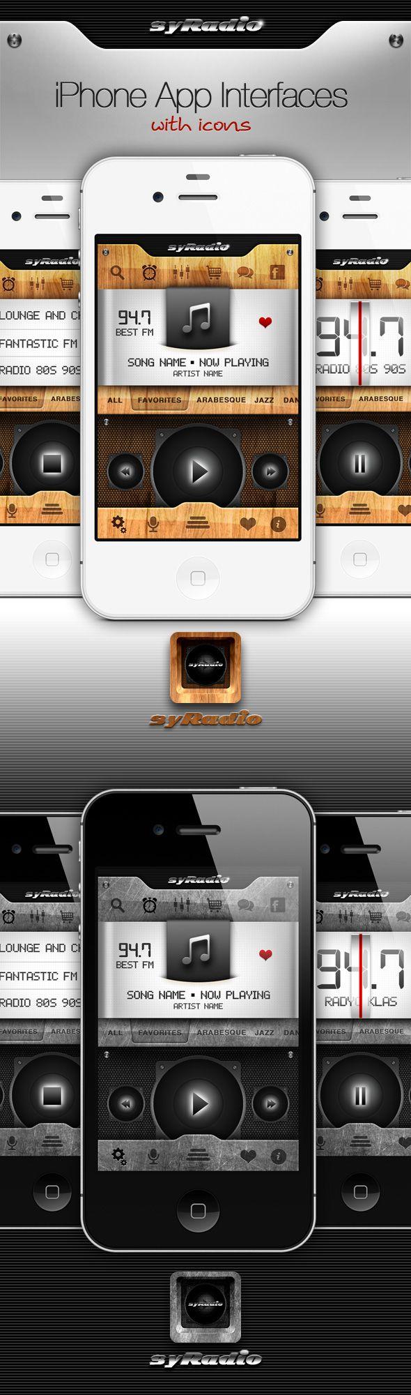 radio UI design