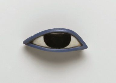 Right Eye from an Anthropoid Coffin, Obsidian, crystalline limestone, blue glass, Egypt, 1539-30 B.C.