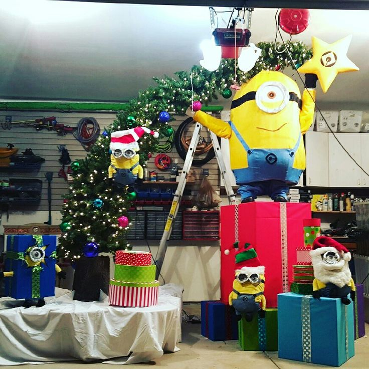 Our Minion Christmas Tree at our Grand Dental - Channahon office! #minions  #christmastree