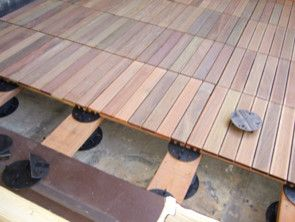 Teak deck tiles - Ipe decking tiles  outdoor products