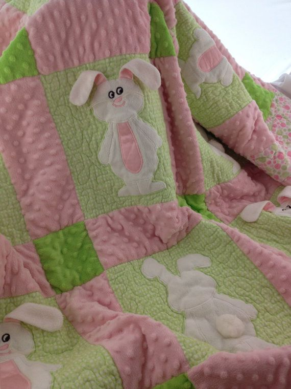 Bunny Quilt by WeeziesWorkshop on Etsy,