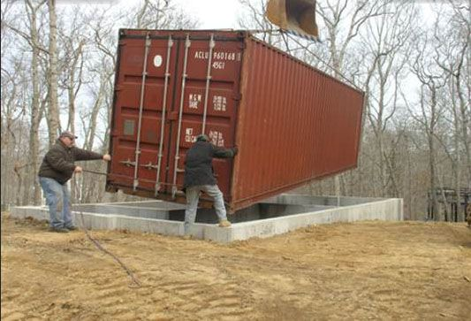 construction stages 40 ft shipping container studio ...