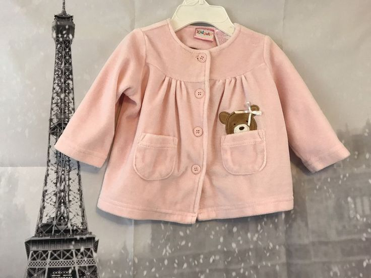 KIDGETS Pink Velvet Baby Bear Long Sleeve Jacket Size 0-6 Months | Clothing, Shoes & Accessories, Baby & Toddler Clothing, Girls' Clothing (Newborn-5T) | eBay!