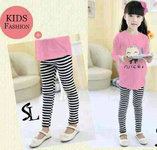 50k -cute cat kiddie -spandex -baju(wrn salem) +leging -3-5th.