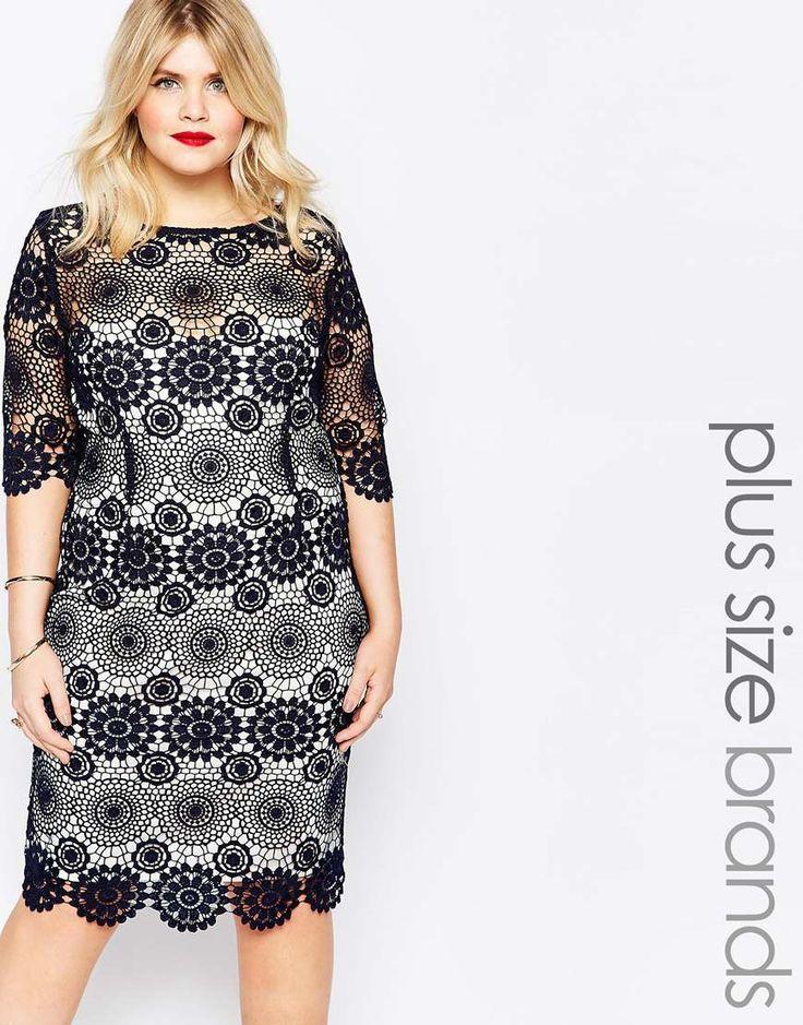 Paper Dolls Plus Crochet Lace Pencil Dress