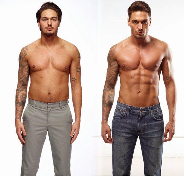 cutting antes e depois