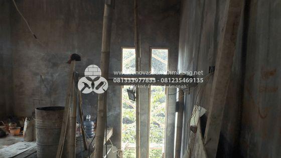 pemasangan kerangka ddengan pring kayu, jasa bangun rumah di malang HUB. 0813.3397.7853 atau 0812.3546.9135