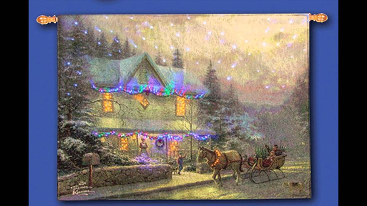 Victorian Christmas Thomas Kinkade® Fiber Optic Wallhanging ...