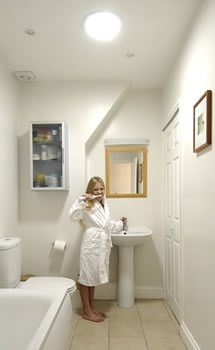 17 best images about brighten your bathroom on pinterest for Windowless bathroom design ideas