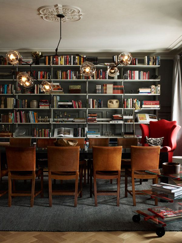 Love the lighting and chairs. (Ett Hem, a hotel in Stockholm via dustjacket attic: interiors)