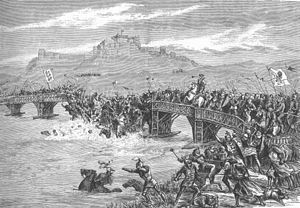 The Battle of Stirling Bridge was a battle of the First War of Scottish Independence. On 11 September 1297, the forces of Andrew Moray and William Wallace defeated the combined English forces of John de Warenne, 6th Earl of Surrey and Hugh de Cressingham near Stirling, on the River Forth.