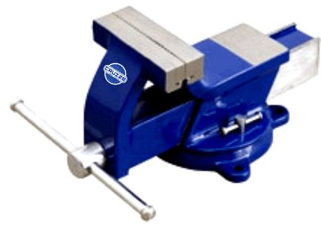 All Steel Bench Vices Swivel Base Made from tested Steel, Jaws mad from Carbon Steel, Hardened & Tempered knurled, Heavy & Light Model