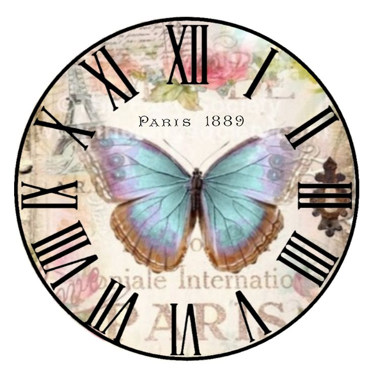 Butterfly clock face