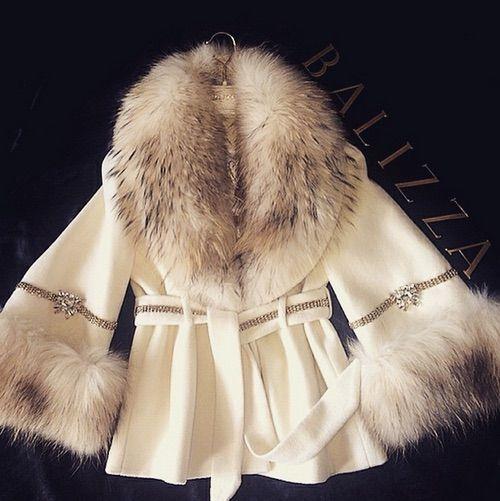 Image via We Heart It #beautiful #Couture #diamonds #fashion #fur #jacket #style