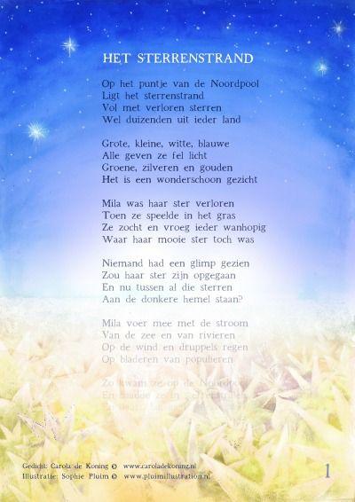 Helende gedichtenposter Het sterrenstrand