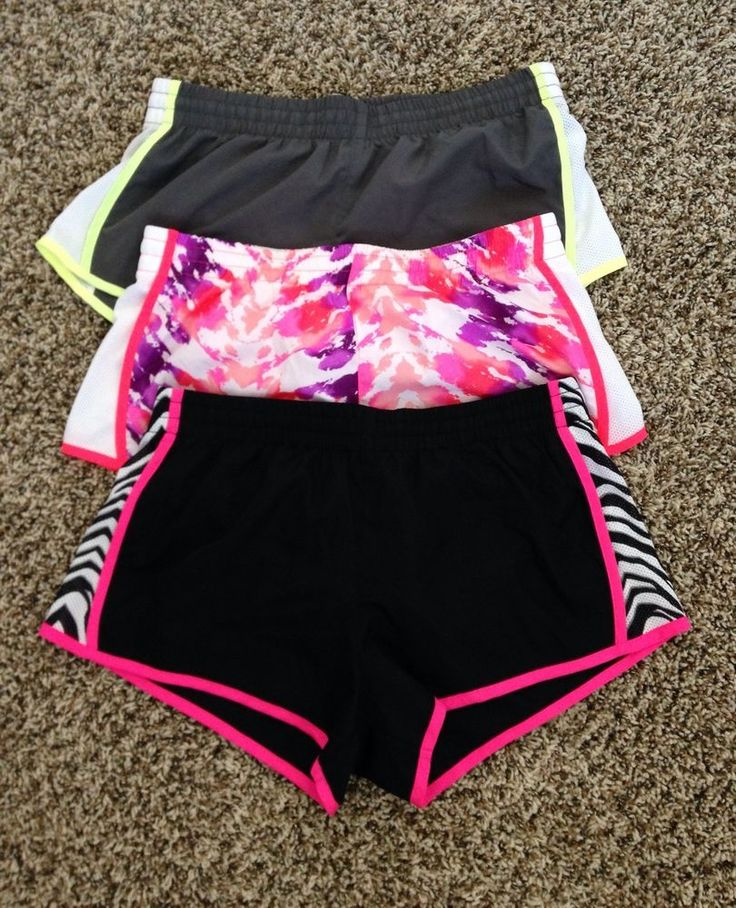 SO Kohls Juniors Jr. Athletic Running Workout Shorts 3 Pc. Lot Pairs Small NWOT #SO #Shorts