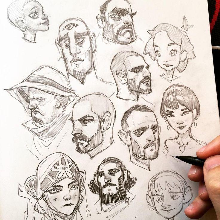 "4,906 Likes, 28 Comments - Ahmed Aldoori (@ahmedaldoori_art) on Instagram: ""Sketchin faces #characterdesign #character #drawing"""