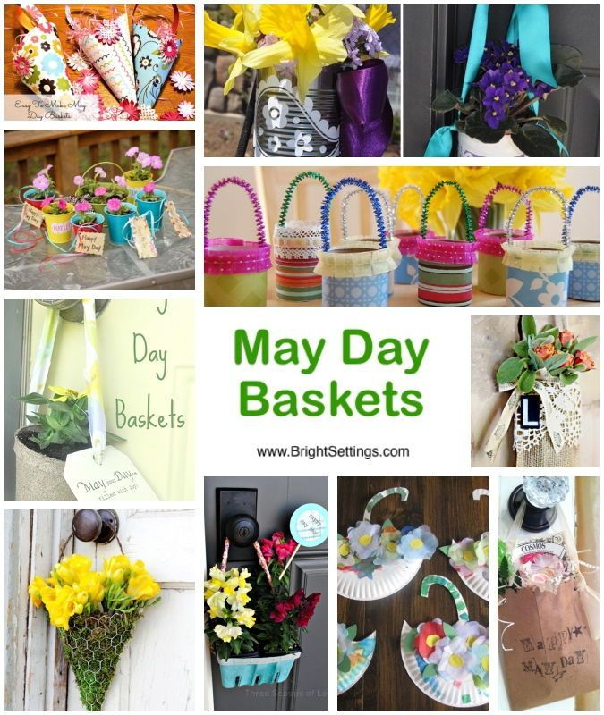 10 DIY May Day Baskets — 10 DIY May Day baskets that are sure to brighten any neighbors' day. All use simple materials and are easy enough to make with your kids and share the love. #diy #mayday #baskets