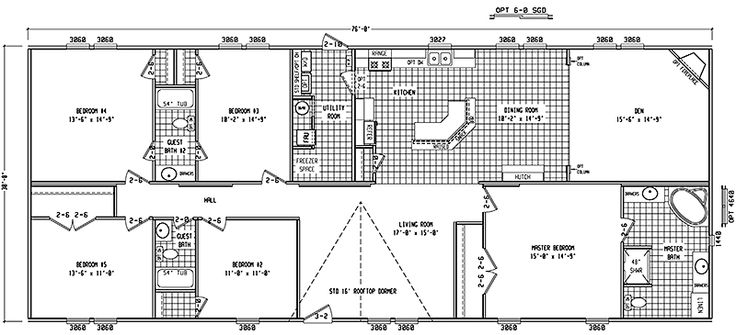 Double Wide Floor Plans 4 Bedroom Google Search