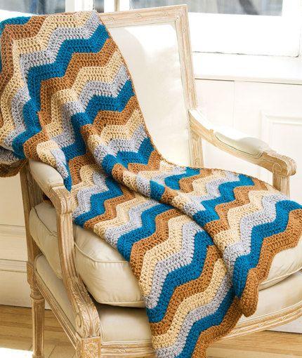Lapghan Knitting Pattern : Ripple Lapghan Crochet Pattern Red Heart crochet Pinterest Free patte...