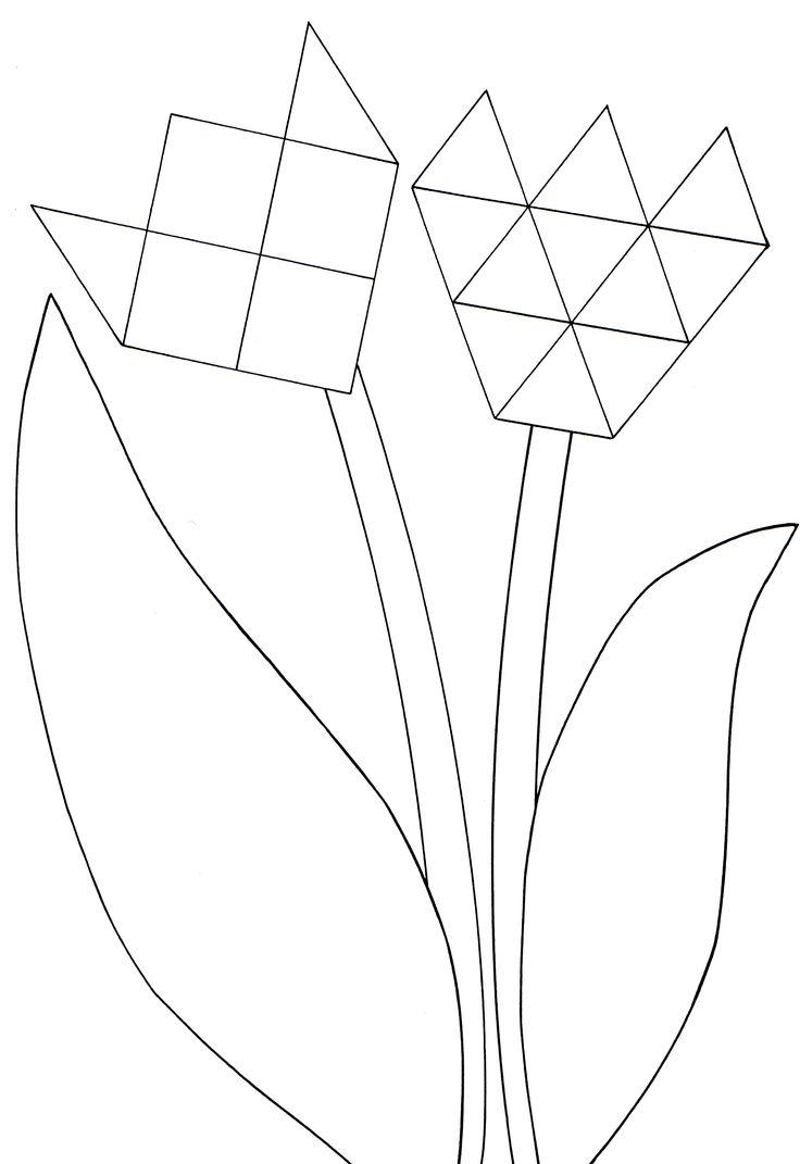 - Juf Joyce bloemen van mozaiekfiguren
