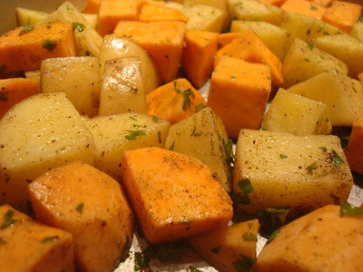 {Thanksgiving Potluck} Roasted Potatoes & Yams