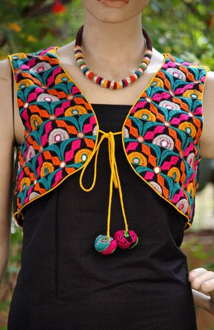 Kutchi Worked Jackets... Well appreciated for their contemporary designs and vivid patterns as per latest trend.