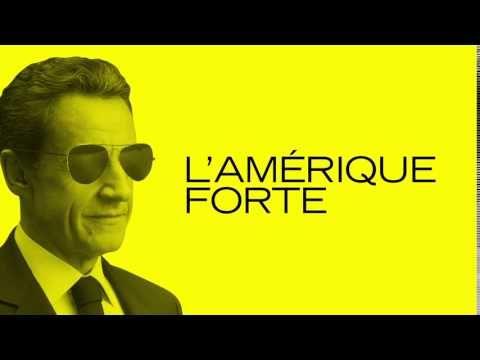 """Campagne France Info : """"Nicolas Sarkozy candidat à l'élection présidentielle américaine"""" - YouTube"""