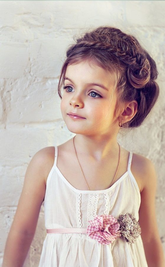Wedding Hairstyles For Little Girls-this will have to be the hairstyle for my flower girl...but idk who can do it...