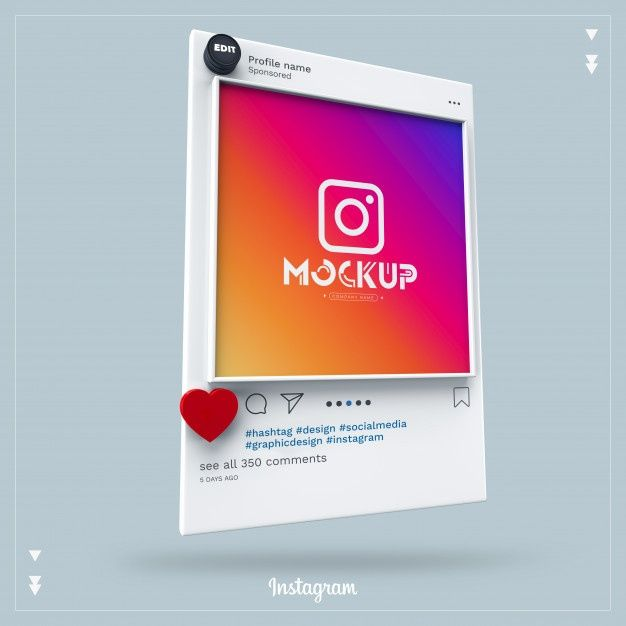 Mockup Instagram Social Media 3d Instagram Mockup Social Media Instagram Social Media Mockup