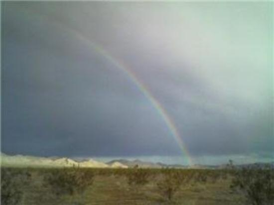 Rainbow over Barstow,California   Barstow is almost exactly midway between Los Angeles, California 130 miles (210 km) and Las Vegas, Nevada 125 miles (201 km) northeast).