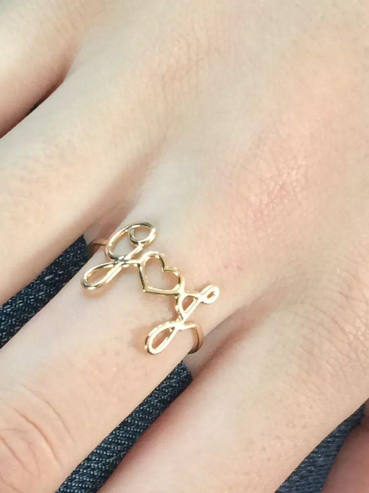 anel de nome 3 letras em ouro amarelo 18k 750!!!!