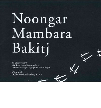 A young man follows a kangaroo track deep into the old people's country. Along the way, he meets some spirit creatures ('mambara'), who allow him to go on. But after he has hunted down the kangaroo, one mambara is angry and demands a fight ('bakitj'). All day they fight, until the Noongar discovers he is a magic person and defeats the mambara. *** Noongar Mambara Bakitj - presented bilingually in ...