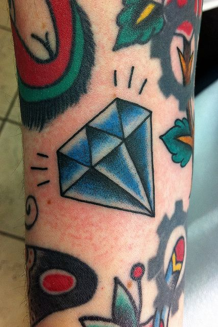 Diamond Tattoo by Chris Hold @Stephanie Coplin-Ashton I'm pretty sure this is what you must have had in mind?! Hate you got a chili pepper instead... Moi Calienta? Lol