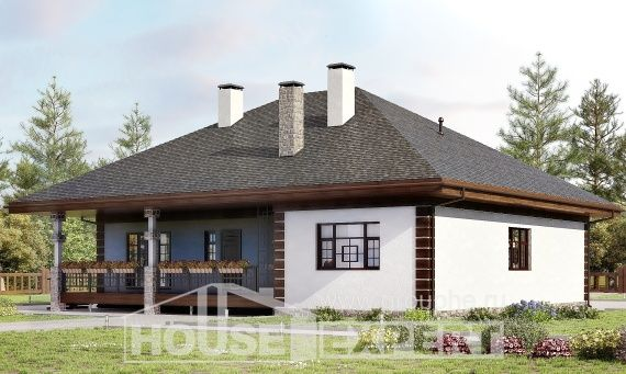 135-003-R One Story House Plans, the budget Design House