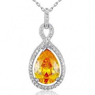 Colier Fancy Yellow Sapphire Argint 925 http://www.borealy.ro/bijuterii/coliere/colier-fancy-yellow-sapphire-925-sterling-silver.html
