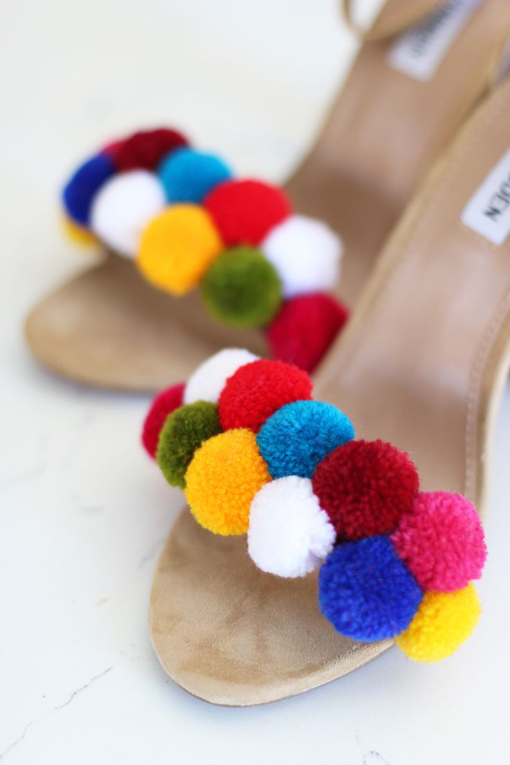 DIY Pom Pom Shoes | HonestlyWTF
