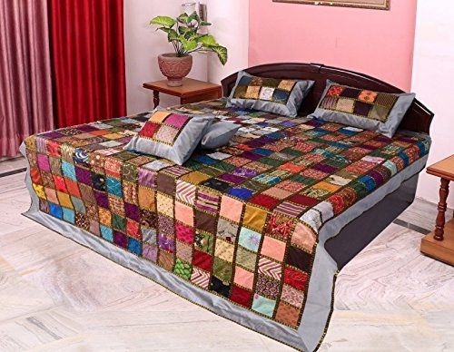 Silk Embroidery Full Tukdi Patch Work Bed Cover Grey Home... https://www.amazon.com/dp/B071YTC2CL/ref=cm_sw_r_pi_dp_x_H8NqzbAQ3JBSX