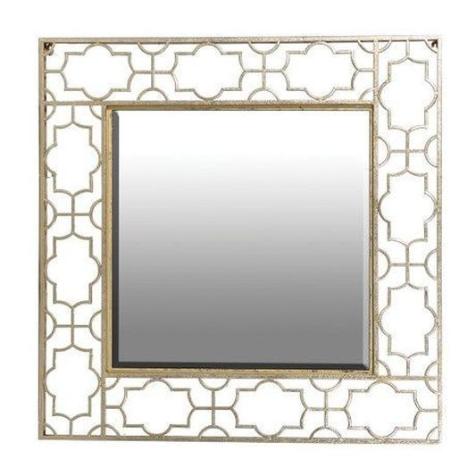 Gold Fretwork Cut Out Mirror | Graham & Brown UK