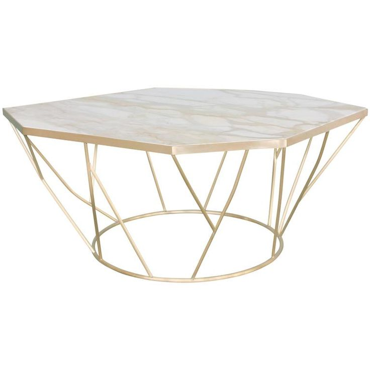 Facet sculptural cocktail table in satin bronze with inset for Table 6a of gstr 1