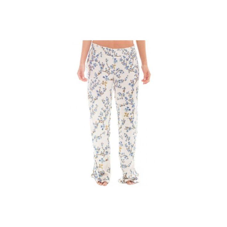 Pijama Pants - White and Blue Print