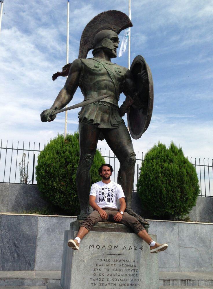 Greek Brand.  Greek Shirt.  Sparta. 300.  Molon Lave.