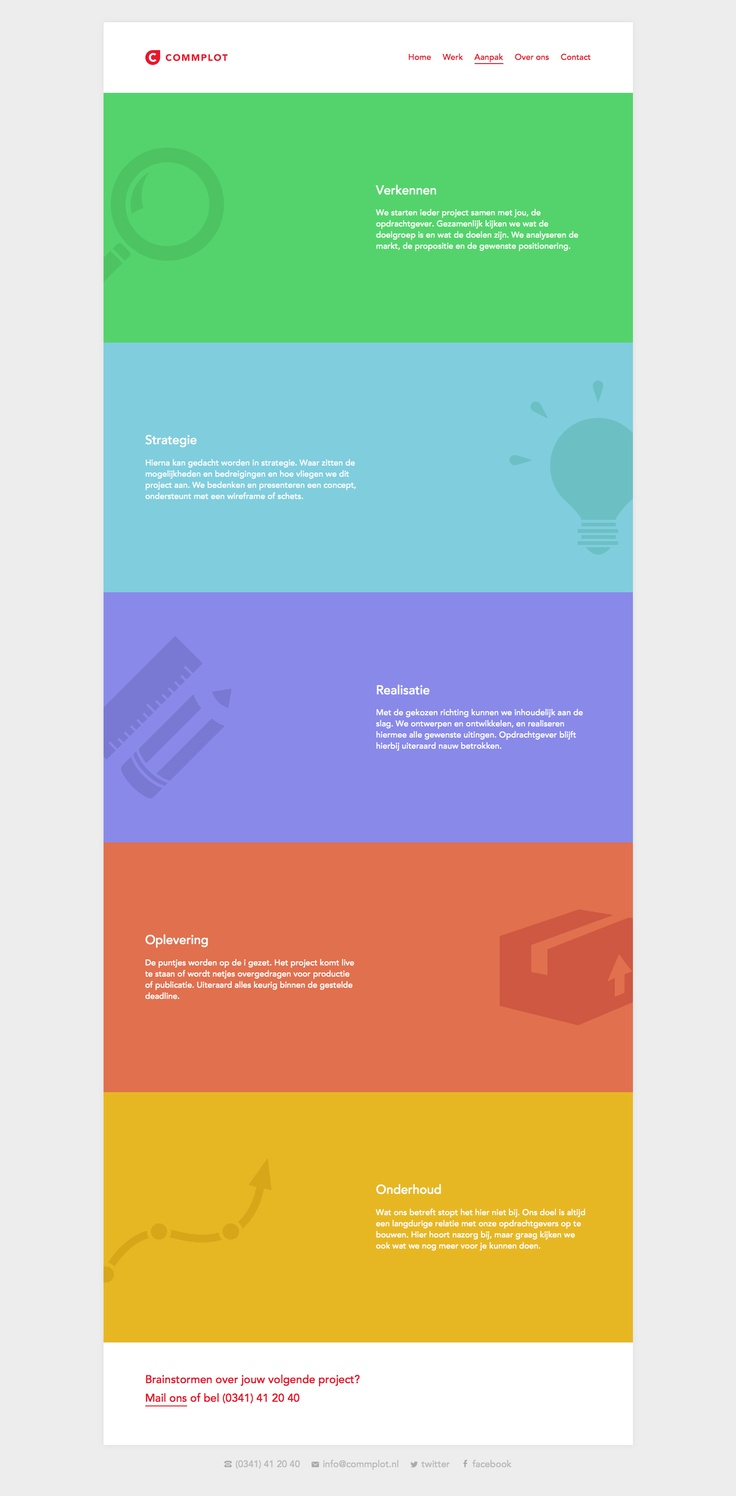 http://www.commplot.nl/ #flatdesign #flat #colors