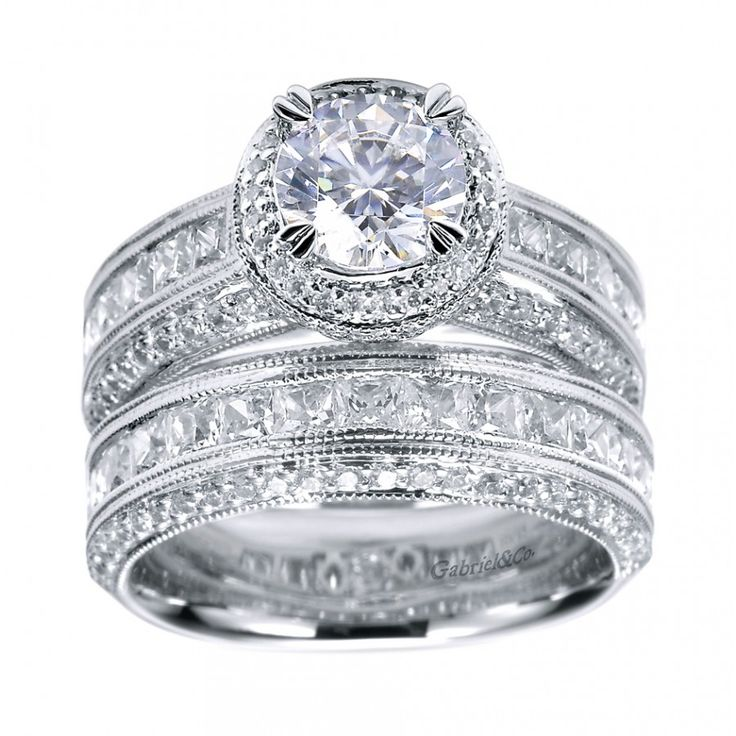 Princess Cut Engagement Rings Vintage Halo Engagement Ring Setting