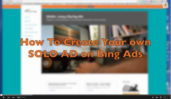How to Create your own Solo Ad on Bing Ads...Check out My Step By STep Video Tutorial on how to create your own camapaign on bing ads.  www.d-papa.com