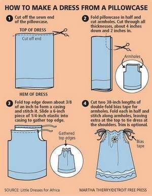 Ahah, this is the kind of instructions i like! Pillowcase dress