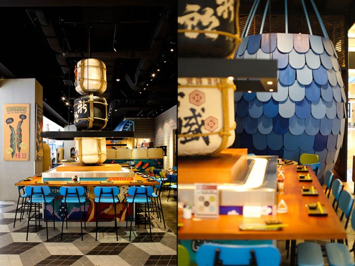 Sushi Groove Market restaurant by AlvinT Studio, Jakarta Indonesia fast food