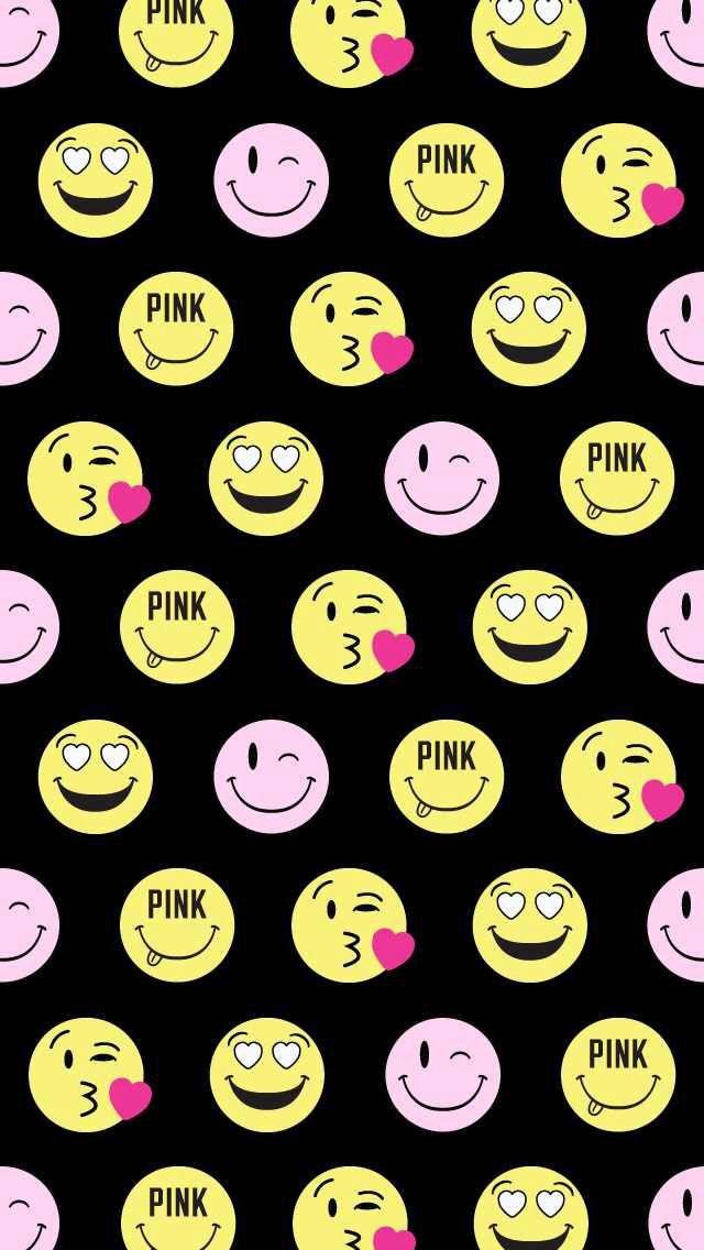VS PINK Emoji Wallpaper!: Iphone Wallpapers, Wallpapers Iphone, Pink ...